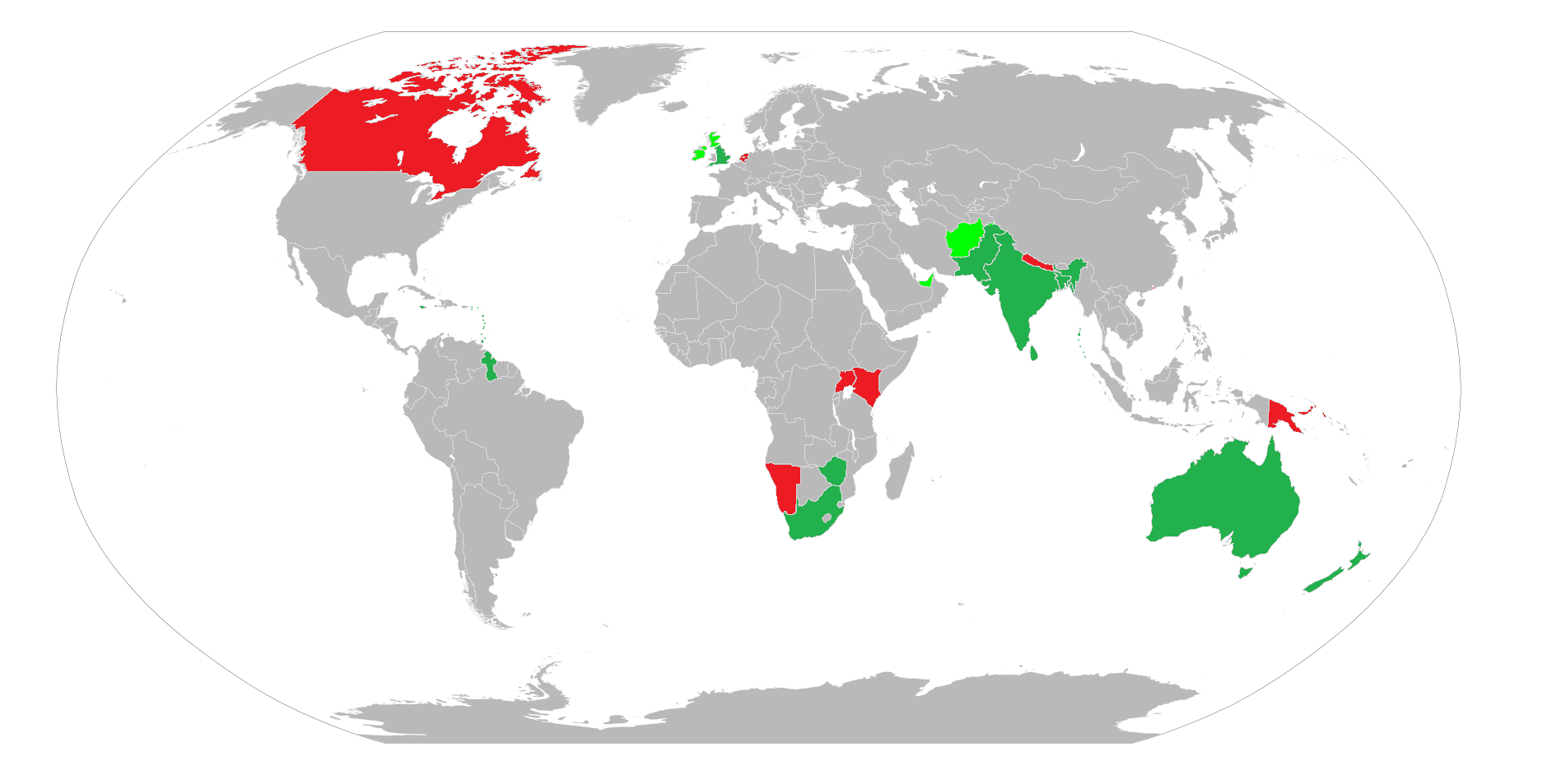 2015 ICC World Cup Participating Nations